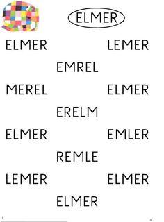 Taalactiviteit werkblad letters Elmer