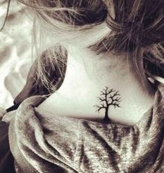 Trees are beautiful and on the back of the neck is great.