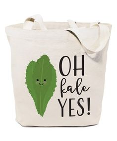 Look what I found on #zulily! Natural 'Oh Kale Yes!' Tote #zulilyfinds