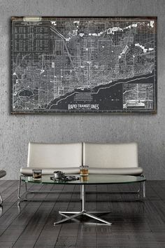"""Chicago Rapid Transit Lines 1926"" Canvas Wall Art"