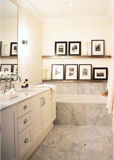 shelf above tub