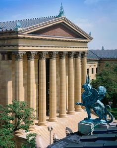 The Griffin stands guard over the priceless treasures at the Philadelphia Museum of Art.