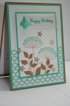 Geburtstagskarte  Stampin up, Stempelset: Summer Silhouettes, Karten, Papier, Geburtstag