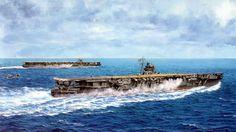 Portaviones Hiryu y Soryu - Takeshi Yuki Remember Pearl Harbor, Navy Carriers, Imperial Japanese Navy, Pearl Harbor Attack, Ship Paintings, Naval History, Ww2 Tanks, Navy Ships, Submarines