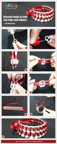 Summary: How do you deal with the soda can rings when you have some soft drinks? What I think is that you may usually throw them as rubbishes. Actually they can be useful materials to create pop can crafts. Let's see the following bracelet, you would know