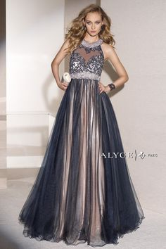 Alyce Paris | Prom Dress Style #6448 front view of dress