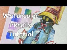 How to Color With Watercolor Pencils (Drawing Tutorial): In this tutorial I will show you how to use watercolor pencils, with simple techniques and examples. I hope you enjoy this video! Watercolor Pencils Techniques, Watercolor Pencil Art, Watercolor Tips, Watercolour Tutorials, Watercolor Paintings, Watercolours, Simple Watercolor, Watercolor Journal, Drawing Techniques