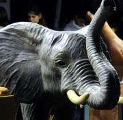 Este elefante pertenece a la sección de 'El oasis de África'.