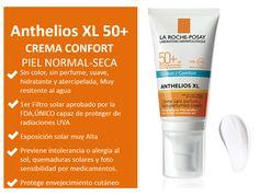 Anthelios XL Spf50+ Confort, (sin color y sin perfume) protección solar facial para piel normal a seca, Precio: $256