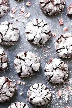Chocolate Peppermint Crinkle Cookies ~ Tutti Dolci