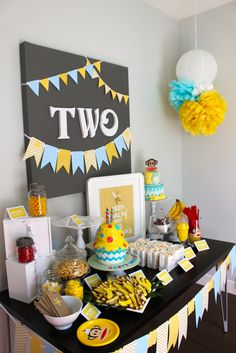 CUTE toddler themed birthday party full of ideas! Via KarasPartyIdeas.com, great simple background!