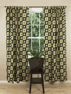 Modern curtains & drapes for every window in your home. Searching for contemporary chic or trendy and upbeat? Retro Curtains, Black Curtains, Curtains For Sale, Drapes Curtains, Curtain Panels, Tucker House, Mid Century Modern Curtains, Contemporary Curtains, Illusions