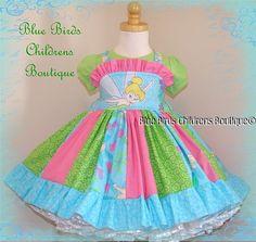 Disney Princess Tinkerbell TINK Dress BBCB Boutique   by sarahBBCB, $46.00
