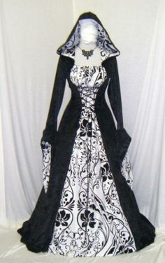 Gothic Medieval dress Vampire renaissance pagan hobbit wicca custom made | the Wicca Collectionary