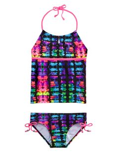 Girls Clothing | Tankinis | Tie Dye Tankini Swimsuit | Shop Justice