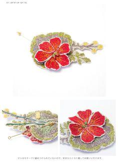 【楽天市場】CORAL&TUSK(コーラル・アンド・タスク)フラワーモチーフ 刺繍ピン【楽ギフ_包装】fs3gm:スタジオエフ