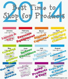 Best Time to Shop for Products