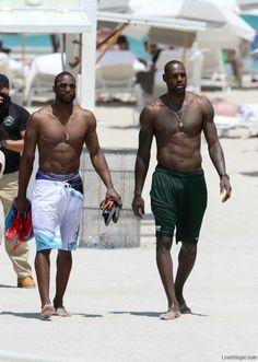 Lebron James and dwyane wade beach basketball nba shirtless lebron james dwyane wade nba finals king james