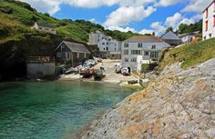 Tranquility in the harbour at lovely Portloe, on the Roseland Peninsula in Cornwall Roseland Peninsula, Cottages By The Sea, Cornwall England, Exeter, Beautiful Places To Visit, Great Britain, Places Ive Been, The Good Place, St Ives