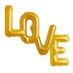 LOVE Folienballons XL gold