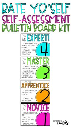 Raise your students' level of engagement with this quick and easy self assessment. Use the bulletin board to form quick on-the-spot groups or attach smaller self-assessment sticky notes to student desks for easy check-ins. 3rd Grade Classroom, School Classroom, Future Classroom, Classroom Data Wall, Classroom Ideas, Classroom Signs, Student Self Assessment, Formative Assessment, Beginning Of School