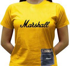 Para os guitarristas, uma camiseta especial com a imagem de um Mini Marshall pendurado na barra da camiseta.