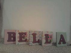 15cm mdf letters £3 per letter