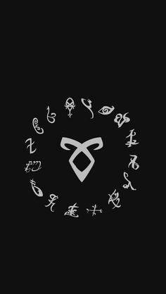 Mortal Instruments Wallpaper, Mortal Instruments Runes, Shadowhunters The Mortal Instruments, Cute Wallpapers, Wallpaper Backgrounds, Iphone Wallpaper, Movies Wallpaper, Rune Tattoo, Shadowhunters Malec