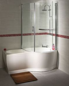 Aqualux P Shower Baths With Optional Bath Screens At Huge Savings And Fast  UK Delivery