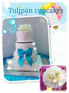 Xv años cake quinceanera pastel moño vintage tiered cake casero 100% fresh homemade baking #tulipáncupcakes en facebook