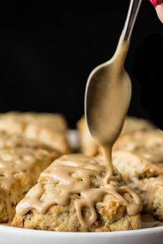 A ridiculously easy technique for incredibly delicious, pecan-studded, melt-in-your-mouth scones finished off with a drizzle of sweet, maple-infused glaze!