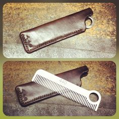 440 Gentleman Supply x Chicago Comb collaboration. Stainless steel comb with a Horween leather sleeve, made to last for generations. www.440gentlemansupply.com