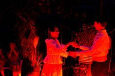 FIESTA ARGENTINA am 8. September 2012 im Garten der Villa Klein in Johannisberg / Rheingau. Anni Bauchwitz - Emmel und Jürgen Schmidt beim Folkloretanz. (Foto: Theresa Rundel)