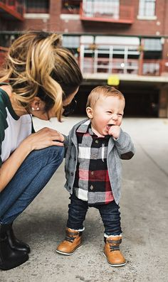 Cute baby boy fall fashion