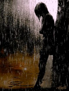 Bwrw Glaw: silhouette in the rain Walking In The Rain, Singing In The Rain, Rain Gif, Rain Wallpapers, I Love Rain, Rain Days, Sound Of Rain, Rain Photography, Rainy Night
