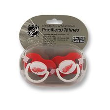 Detroit Red Wings Baby Pacifiers - Set of 2