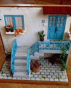 Vitrine Miniature, Miniature Rooms, Miniature Fairy Gardens, Miniature Houses, Clay Crafts, Diy And Crafts, Paper Crafts, Doll House Crafts, Marianne Design