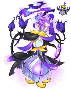 Pokemon fusion Chandelure and Lilligant Pokemon Fusion Art, Pokemon Fan Art, Pokemon Go, Ghost Pokemon, Pikachu, Pokemon Planet, Chandelure Pokemon, Pokemon Original, Character Art