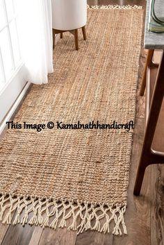 Indian Braided Floor Rug Handmade Jute Rug, Natural Jute Rug Runner, Indian Handmade Handwoven Ribbed Solid Rugs Runner, Beautiful Floor Rug - Care - Skin care , beauty ideas and skin care tips Rug Yarn, Jute Rug, Woven Rug, Burlap Rug, Jute Mats, Jute Fabric, Braided Rag Rugs, Mandala Rug, Solid Rugs