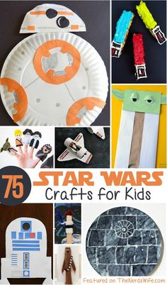Star Wars Crafts for Kids Star Wars Crafts for Kids There are so many easy and fun Star Wars Crafts for Kids from Wookiee cookies to a Death Star made from cupcake liners! The post Star Wars Crafts for Kids appeared first on Craft for Boys. Crafts For Kids To Make, Art For Kids, Star Wars Art Projects For Kids, Easy Crafts, Kids Diy, Disney Crafts For Kids, Adult Crafts, Disney Games For Kids, Creative Crafts