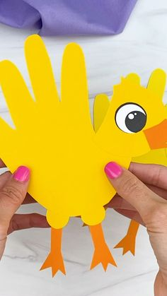 Duck Crafts, Farm Crafts, Church Crafts, Animal Crafts For Kids, Craft Projects For Kids, Easter Crafts For Kids, Easter Activities, Craft Activities For Kids, Preschool Crafts