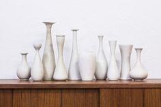 Vases par Carl-Harry Stålhane pour Rörstrand, 1950s, Set de 10 1