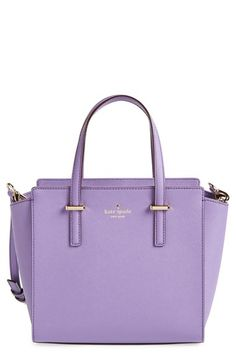 LOVE LAVENDER! Free shipping and returns on kate spade new york 'cedar street - small hayden' leather satchel at Nordstrom.com. Sleek, 14-karat gold-plated hardware polishes this sophisticated duo-toned Saffiano leather satchel from kate spade new york. Designed with a smaller silhouette, this bag features an optional, adjustable shoulder strap and a spacious interior with plenty of pockets for organizing your essentials in fabulous style.