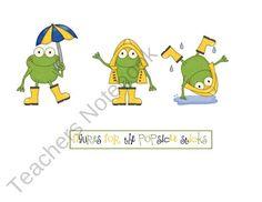 Weather Card Printable Sticks product from Preschool-Printable on TeachersNotebook.com
