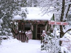 Santa's workshop is tucked away in North Carolina where HGTV fanFaeryhollow transformed her garden shed into a space for Santa and his helpers to prepare for Christmas. The candy cane-theme gives the shed a warm, inviting look.