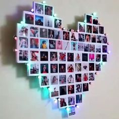 Get this Heart Photo Collage for loved Ones DM for inquiries and orders . Decoration Photo, Photo Wall Decor, Collage Foto, Photo Wall Collage, Diy Picture Frames On The Wall, Picture Walls, Picture Boards, Cute Room Decor, Teen Room Decor