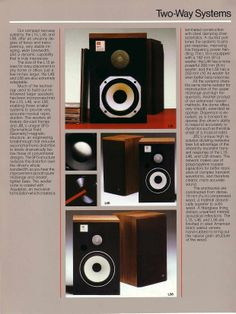 JBL L Series. L15, L46 $ L56 2 way monitor series.