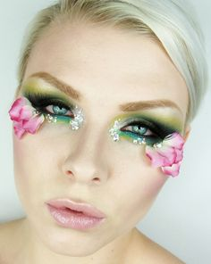 Beautiful flower make up - great for a fairy costume.