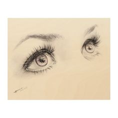 Charcoal and colored pencil drawing of beautiful woman's eyes. Minimalist art.