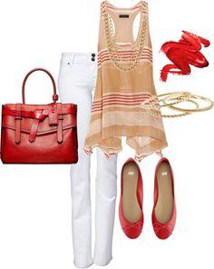 """Red, White, & Gold"" by karrina-renee-krueger on Polyvore"